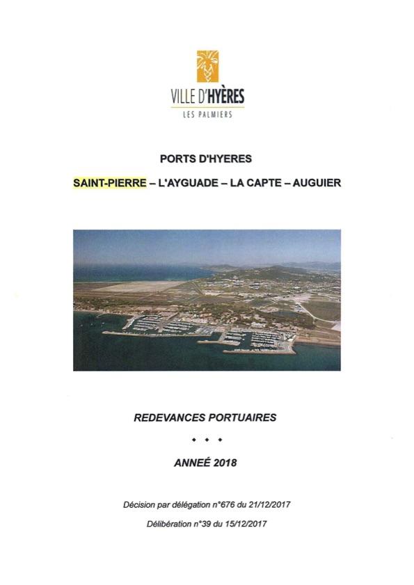 Tarifs du port Saint-Pierre